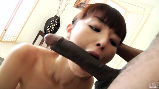 Asian girl suck cock black guy