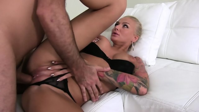 Fucking charming blonde in porn casting