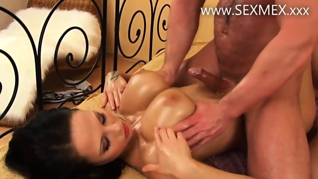 Satisfied boy brunette with big milkings