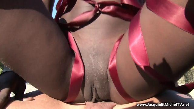 Sex on the beach with a young black girl