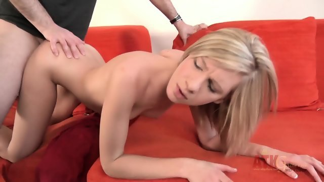 Blonde with small Tits gets off on penetration
