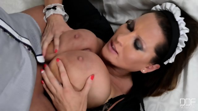 Busty maid gets fucked in hotel