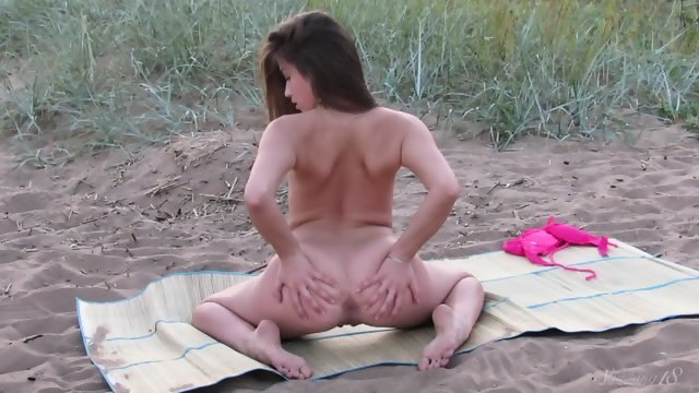 Masturbation elegant girls in the fresh air
