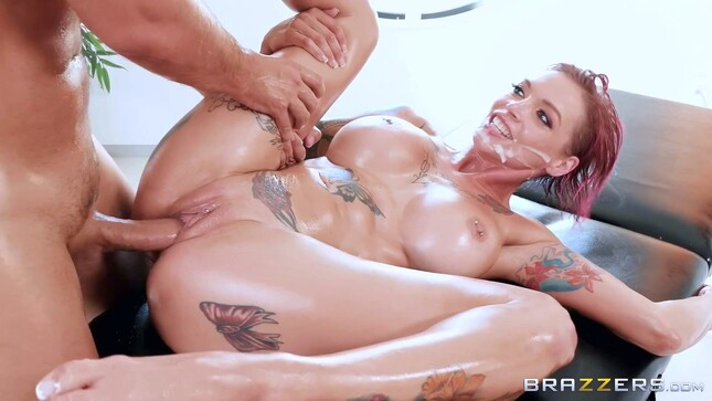 Oil Massage Porn and Face Cum