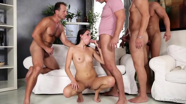 Orgy with participation of young and very slutty girls