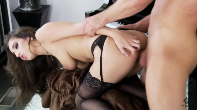 Sex lesson with juicy chick in stockings