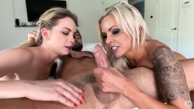 Blonde girlfriend suck cock and lick ass