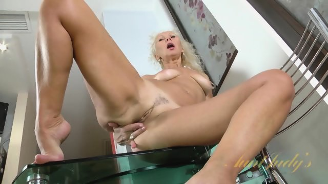Blonde undressed and fucked with a cunt