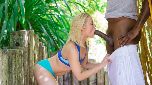 Gets sexual pleasure during fucking with a black man