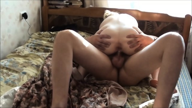 Homemade fuck on bed Russian couples