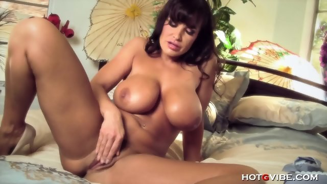 Lisa Ann fingers rubs the crotch
