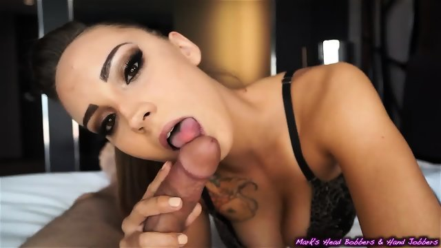Long lasting Blowjob from the gorgeous Sasha Foxxx oral ever