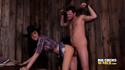 Sexy Cowgirl Audrey Bitoni And Her Horse Cock