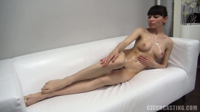 Thin brunette looking for work in the porn casting