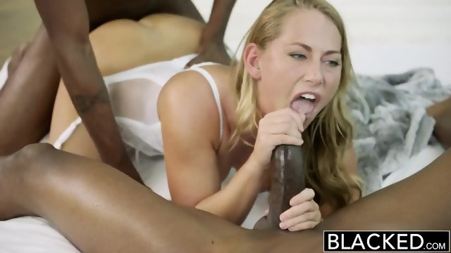Two black penis for sexy cutie