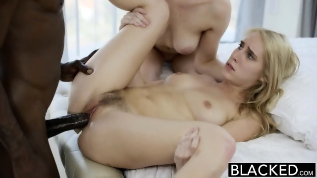 Two gorgeous blonde and one big black dick